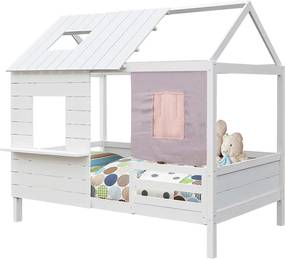 TEMPO KONDELA Bibiana jednolôžková posteľ s roštom biela