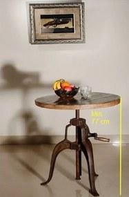 Bighome - INDUSTRY Príručný stolík 75x75 cm, staré drevo