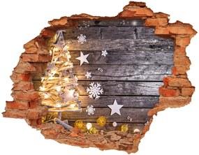 Samolepiaca nálepka na stenu Osvetlený vianočný strom nd-c-124660407