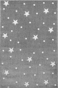 MAXMAX Detský koberec HEAVEN striebornošedý / biely 100x150 cm
