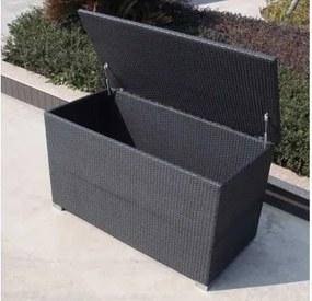 Umelý ratan Box na podušky Farba ratanu Čierna 0105