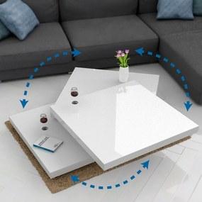 Jurhan & Co.KG Germany Konferenčný stolík otočné platne 60 cm x 60 cm, biela