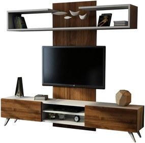 TV zostava v dekóre orechového dreva Dem