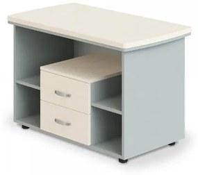 Prístavný stôl Manager LUX, pojazdný, 106 x 60 cm breza
