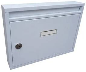 Poštová schránka DLS-E-01-B-P_B, vhod formát A4, interierové schránky, biela RAL 9016 / Barva schránky:Bílá RAL 9016