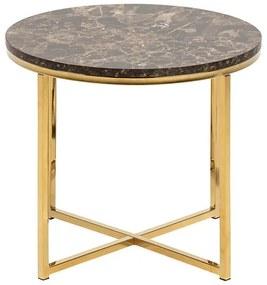 Alisma príručný stolík R50 hnedá / zlatá