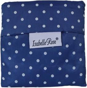Isabelle Rose Skladacia nákupná taška modrá s bodkami
