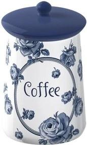 Keramická dóza na kávu Creative Tops Vintage Indigo, ⌀ 9 cm