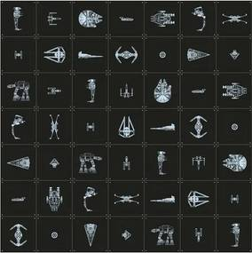 IXXI Skladaný obraz IXXI Star Wars Galaxy