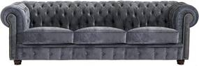 Sivá pohovka Max Winzer Norwin Velvet, 200 cm