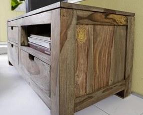 Masiv24 - GREY WOOD TV stolík 108x45 cm - polička napravo, palisander