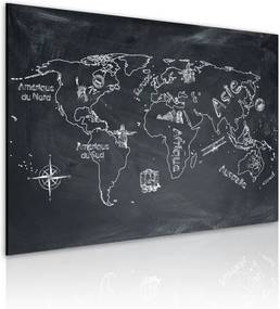 Obraz na plátne Bimago - Geography lesson (French language) 60x40 cm