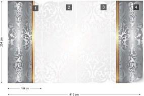 Fototapeta GLIX - Silver And White Luxury  + lepidlo ZADARMO Vliesová tapeta  - 416x254 cm
