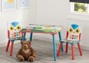 Detský stôl so stoličkami - lesné zvieratká