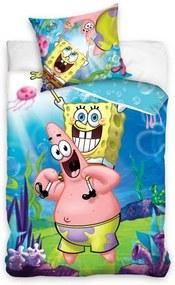 Carbotex, Poľsko Detské obliečky SpongeBob a Patrik, Rozmer 1x70x80 / 1x140x200 cm