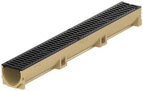 ACO EuroSelf žľab 1 m, H=10,4 cm, liatinový mostíkový rošt 38705