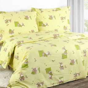 Goldea detské flanelové obliečky - vzor 309 140 x 200 a 70 x 90 cm