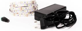LED Solution LED pásik 12W/m 12V bez krytia IP20 5 metrov + adaptér 72W Farba svetla: Extra teplá biela 07700_05310_11218
