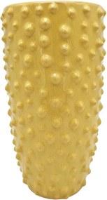 Žltá keramická váza PT LIVING Spotted, výška 25 cm