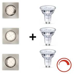 Philips Massive Philips Massive - SADA 3x LED Stmievateľné kúpeľňové svietidlo 3xGU10/5,5W/230V M6287