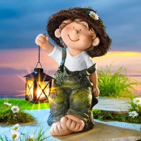 Die moderne Hausfrau Dekorační figurka Franta s lucernou
