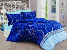 Brotex Obliečky Satén Exclusive Morano modré 140x200/70x90cm