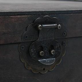 vidaXL Konferenčný drevený stolík s vintage prevedením 120x55x35 cm