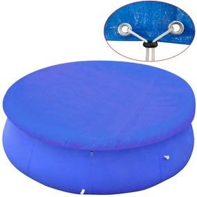 Kruhová krycia plachta na bazén z PE, 300 cm, 90 g/m2