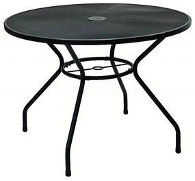 Kovový stôl TAMPA ø 100 cm (čierna)