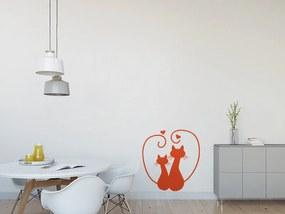 GLIX Zamilované kočky - samolepka na zeď