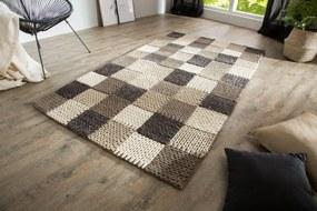 Dizajnový koberec Rebecca 200x120 cm / sivá patchwork