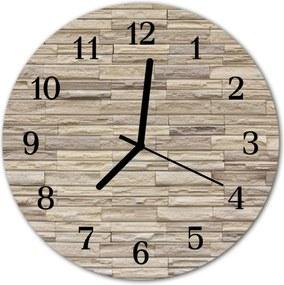 Sklenené hodiny okrúhle  tehla