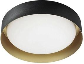 Stropné LED svietidlo Crew 2, Ø 33cm čierne/zlaté