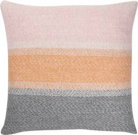 Ľanová obliečka na vankúš Ruoste 45x45, ľan-oranžová-sivá Lapuan Kankurit
