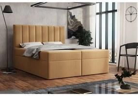 Čalúnená posteľ boxspring 120x200 SAMANTA - béžová 5
