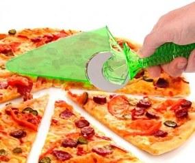 DR Krájač na pizzu s lopatkou 27cm Modrá