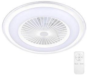 Milagro LED Stmievateľné stropné svietidlo s ventilátorom ZONDA LED/65W/230V biela + DO MI1331