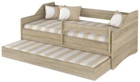 MAXMAX Detská posteľ s prístelkou Lully 160x80cm - dub sonoma II.