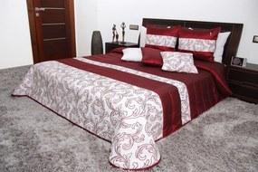 DomTextilu Prehoz na posteľ červenej farby Šírka: 200 cm | Dĺžka: 220 cm 5098-104264