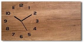 Sklenené hodiny na stenu tiché Drevené pozadie pl_zsp_60x30_f_111507798