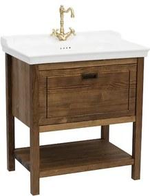 Kúpeľňová skrinka s umývadlom Naturel Country 79,5x85x53 cm palisander COUNTRY80ZPA