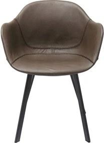 KARE DESIGN Sada 2 ks − Stoličky s opierkou Lounge šedé 77 × 49,5 × 52 cm