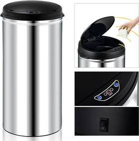 Jurhan & Co.KG Germany Bezdotykový odpadkový kôš - automatické otváranie - 56 litrov ušľachtilá oceľ