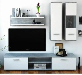 TEMPO KONDELA Waw New obývacia stena betón / biela