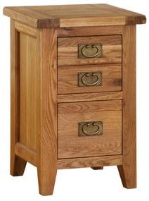Nočný stolík so zásuvkami s dvojitými úchytkami 450x400x700