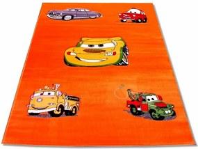 Detský kusový koberec CARS oranžový, Velikosti 100x200cm