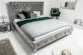Posteľ 38968 180x200cm Zamat Strieborno šedá-Komfort-nábytok