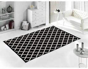 Čierno-biely obojstranný koberec Madalyon, 120 × 180 cm