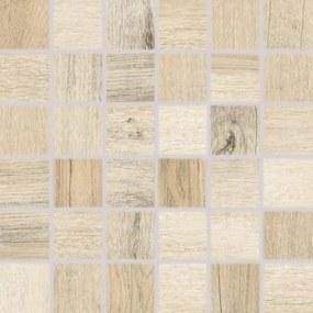 Mozaika Rako Saloon béžová 30x30 cm mat DDM06746.1
