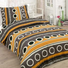 HOD Bavlnené posteľné obliečky BOB hnedé 5 set 200x220cm